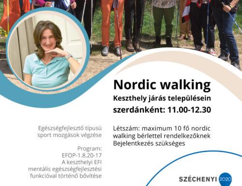 Nordic walkingozz ingyen a Keszthelyi Kórház Egészségfejlesztési Irodával!
