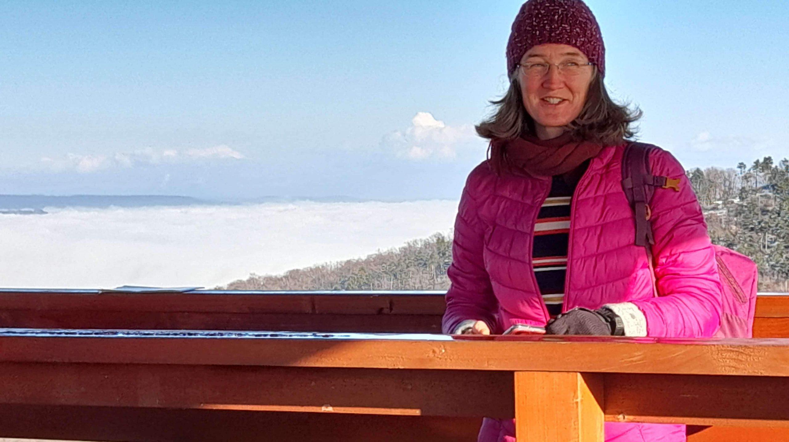 Vállus Láz-tető Kilátó Papp Anikó nordic walking oktató